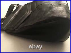 100% Auth Yves Saint Laurent YSL Black Leather Laptop Book Bag XL Purse Handbag