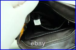 100% Authentic MCM Cognac Visetos Messenger Laptop Unisex Crossbody Bag Dust Bag