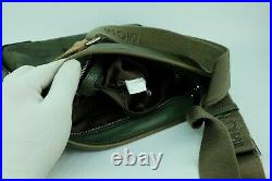 100% Authentic MCM Green Visetos Messenger Laptop Unisex Crossbody Bag Dust Bag
