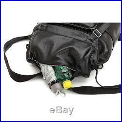 100% Real Leather Men women Backpack Shoulder Travel Bag Laptop Rucksack Luggage