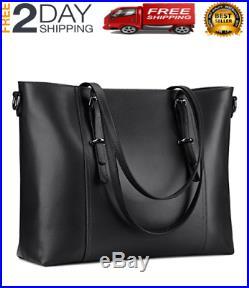15.6 Leather Laptop Tote Bag For Women LARGE Work Handbag Computer Shoulder Pur