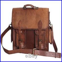 16 Distressed Leather Messenger/ Laptop Bag For Men/Women Soft Comfort Comforta