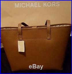 35S3GTVT2T NWT MICHAEL KORS MED TRAVEL TOTEScHOOL BAG FITS LAPTOP BROWN LUGGAGE