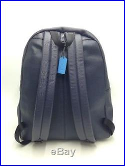 $850 Coach Womens Blue Leather Laptop Backpack School Work Travel Bookbag Bag