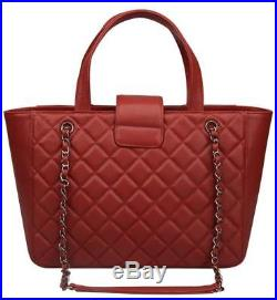 Ainifeel Women's Genuine Leather Quilted tote Bag Large Laptop Purse On