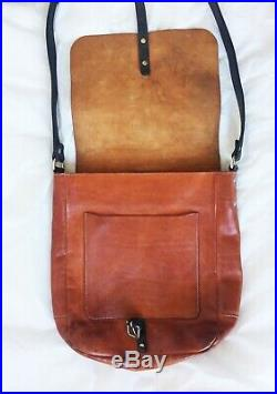 Ally Capellino Portrait real leather brown Satchel / laptop bag mens womens £380
