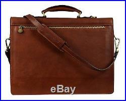 Attache Case Mens Laptop Messenger Bag Leather Lawyer Womens Briefcase / Wallet