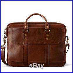 Attache Catalog Case Lawyer Womens Mens Messenger Bag Leather Briefcase Laptop