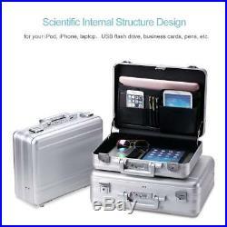 Attache case Metal Aluminum for men women Business Laptop Briefcase