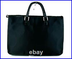 Auth BURBERRY Black Nylon & Leather Business Bag Hand Bag Purse Laptop Bag Used