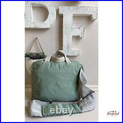 Authentic 2000 PRADA Sports Line Aqua Green Nylon Two-way Medium Business Bag