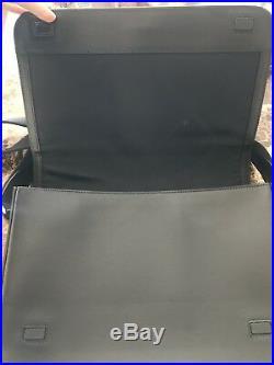 Authentic Burberry London Messenger Bag Black Laptop Work