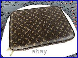 Authentic Louis Vuitton Notebook Laptop Case 15.5x12.5x1.5 Withdust Bag