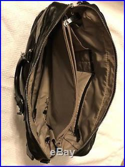 Authentic TUMI Georgetown FORREST ATTACHE LEATHER Laptop Bag Black 3pcs