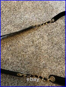 Authentic Vintage Chanel Laptop Computer Work Bag Crossbody Tote Purse Caviar Bl