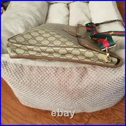 Authentic Vintage Gucci Crossbody Laptop Portfolio Clutch Bag