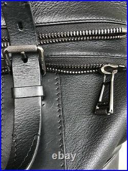 BELSTAFF black Dorchester leather bag tote handbag large purse for laptop