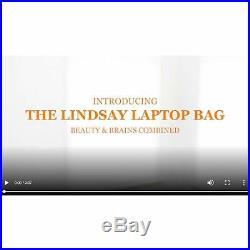 BFB Laptop Bag For Women 17 Inch Computer Briefcase Handmade Luxury Vegan Work