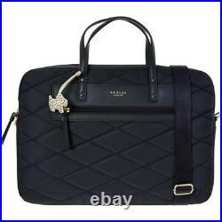 BNWT Radley Women Charleston Laptop Shoulder Bag Navy and Black- RRP £109