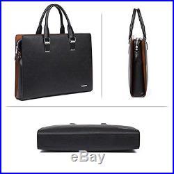 BOSTANTEN Leather Briefcase Shoulder Laptop Business Slim Bag for Men & Women