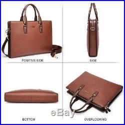 BOSTANTEN Leather Lawyers Briefcase Laptop Business Slim Bags for Men & Women