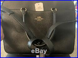 BRAND NEW Coach Laptop Bag Unisex Men Women Black Leather