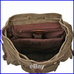 Backpack for Men & Women H-ANDYBAG Waxed Canvas 15.6 inch Laptop Vintage Casual