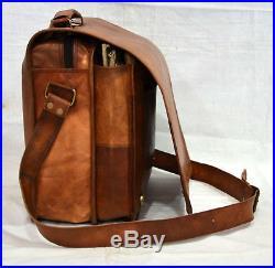 Bag Of The Year Vintage leather messenger satchel bag laptop brown briefcase