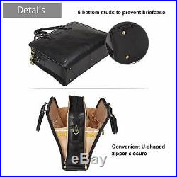 Banuce Full Grains Italian Leather Briefcase for Women Attache Case 14 Laptop Ba