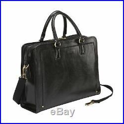 Banuce Full Grains Italian Leather Briefcase for Women Handbags 14 Laptop Bus