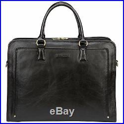 Banuce Full Grains Leather Briefcase for Men and Women Business Satchel Bag 14