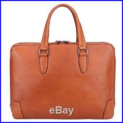 Banuce Italian Leather Briefcase for Men Women Business Laptop Tote Bag Attache