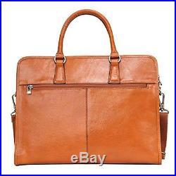 Banuce Women's Full Grains Leather Briefcase Messenger Satchel Bag 14 Laptop Cas