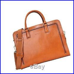 Banuce Womens Full Grains Leather Briefcase Messenger Satchel Bag 14 Laptop C