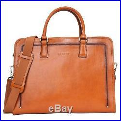 Banuce Womens Full Grains Leather Briefcase Messenger Satchel Bag 14 Laptop Case