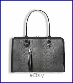 BfB Briefcase Computer Bag Handmade 17 Inch Laptop Bag for Women Charcoal