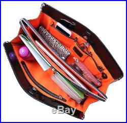 BfB Laptop Bag for Women Handmade Designer Briefcase Messenger 17 Inch Comp