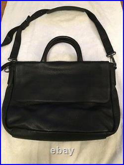 Black Leather Men's Marc By Marc Jacobs Messenger Laptop Bag