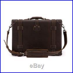 Briefcase Lawyer Womens Mens Messenger Bag Leather Laptop Case Attache Catalog