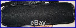 Brighton Black Women's Briefcase Silver Purse Pockets Laptop Bag Msrp $430 Euc
