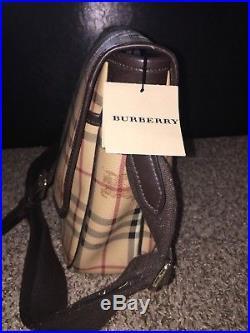 Burberry Large Messenger bag Laptop/Diaper Mens Womens purse Nova Check Plaid