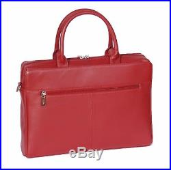 Business Womens Real Leather Briefcase Work Office Laptop Shoulder Red Bag NEW