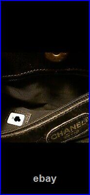 CHANEL CAVIAR HANDBAG Tote Laptop Bag Black Leather MADE in ITALY CC