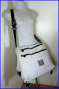 CHANEL Large XL Thick Multi-pocket Unisex Messenger Lap Top Offic Shoulder Bag