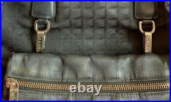 CHANEL Travel Line Black Jacquard Nylon Laptop Bag and Wallet Withextras AWESOME