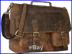 CL 18 inch leather Bag messenger briefcase laptop shoulder bag for men & women