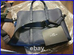 COACH Blue Leather Laptop Bag