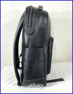 COACH Graham Leather Backpack Laptop Book Bag Tablet Black F37599 NWT Mens
