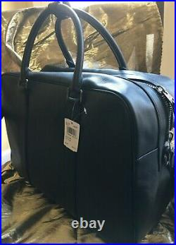 COACH SMOOTH CALF LEATHER OVERNIGHT BAG LAPTOP SLEEVE17.5 L x 12 H x 7WIDE