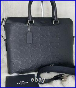COACH Signature Leather BRIEFCASE Laptop Bag NWT authentic embossed Bag